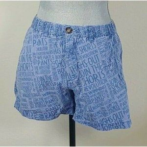 Chubbies Womens Blue All Over Graphic Shorts